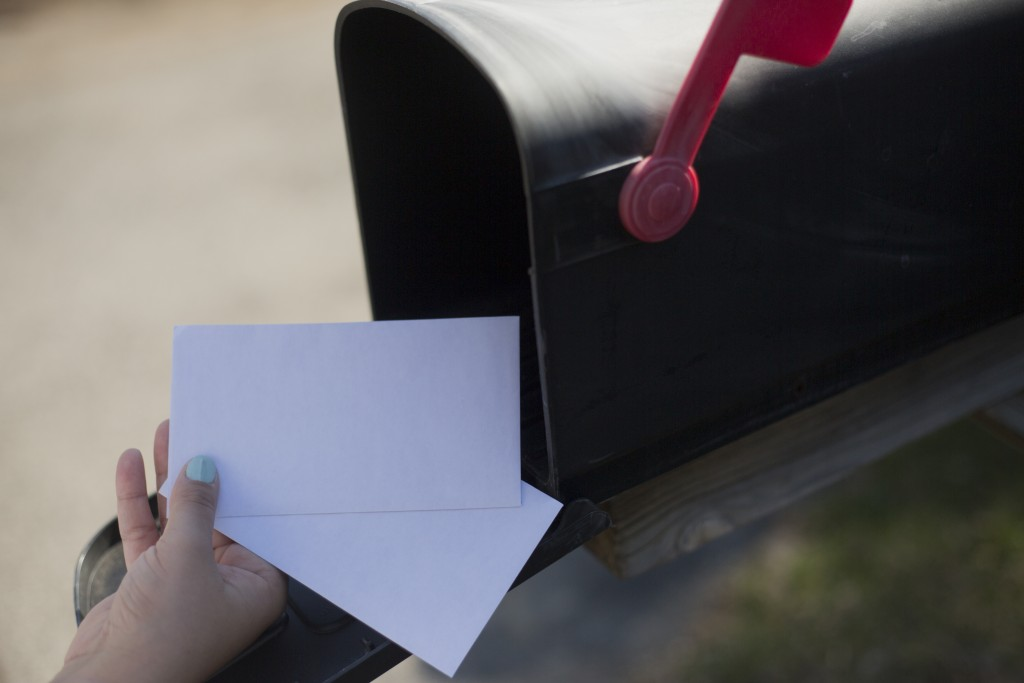 getting letters from the mailbox