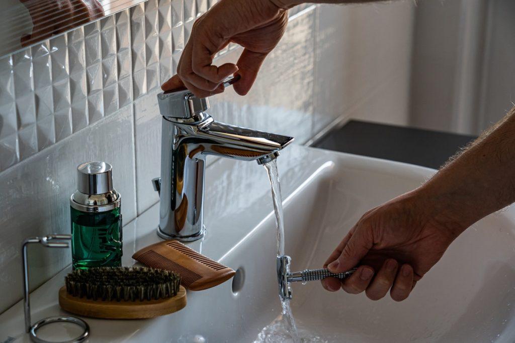 using bathroom sink