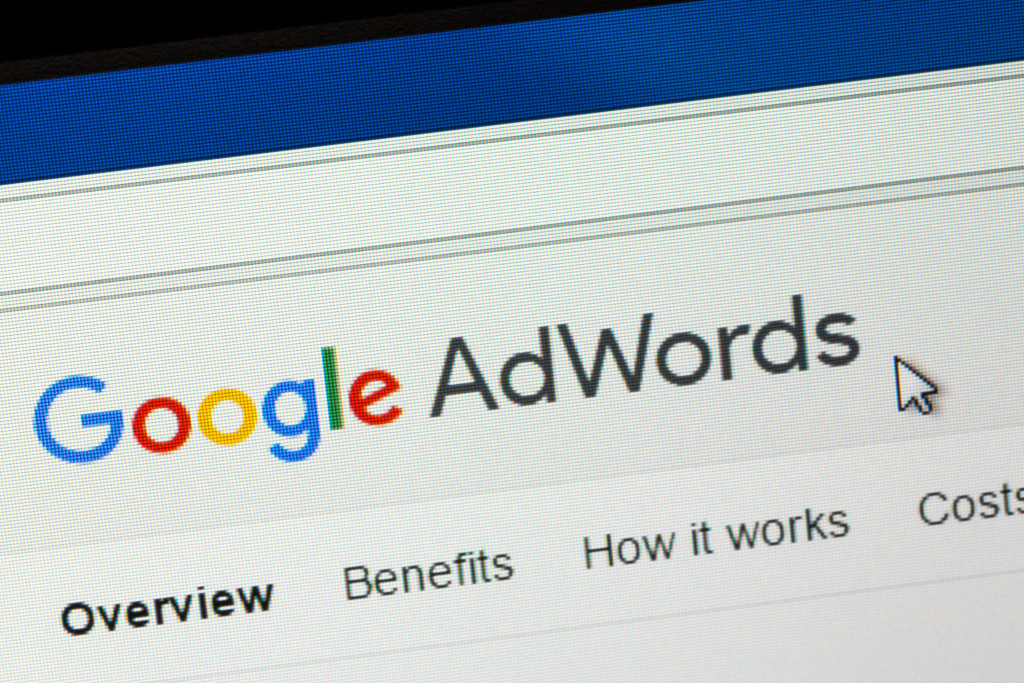 a computer screen with Google AdWords on it